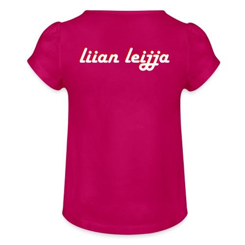 liian leijja - Tyttöjen t-paita, jossa rypytyksiä