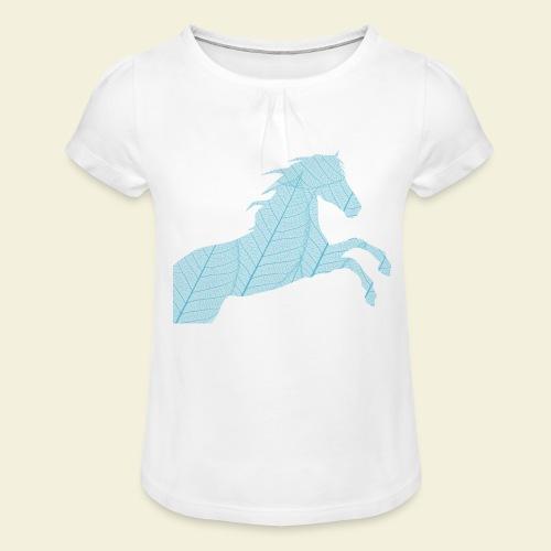 Cheval feuille - T-shirt à fronces au col Fille