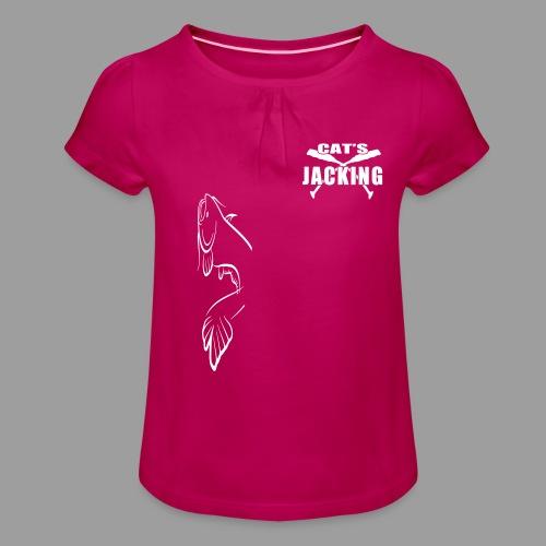 Cat's Jacking - T-shirt à fronces au col Fille