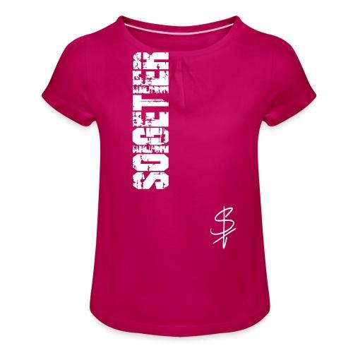 logo st - Mädchen-T-Shirt mit Raffungen
