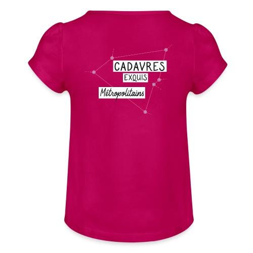 Cadavres Exquis Métropolitains - T-shirt à fronces au col Fille