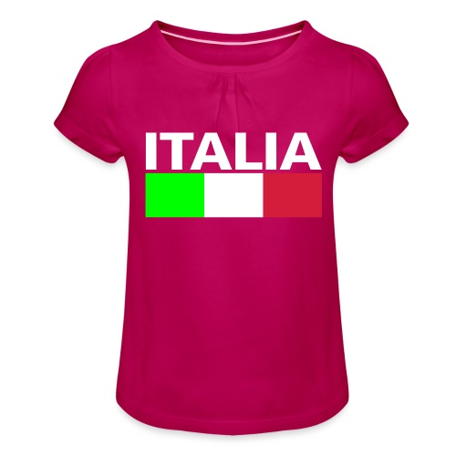 Italia Italy flag - Girl's T-Shirt with Ruffles
