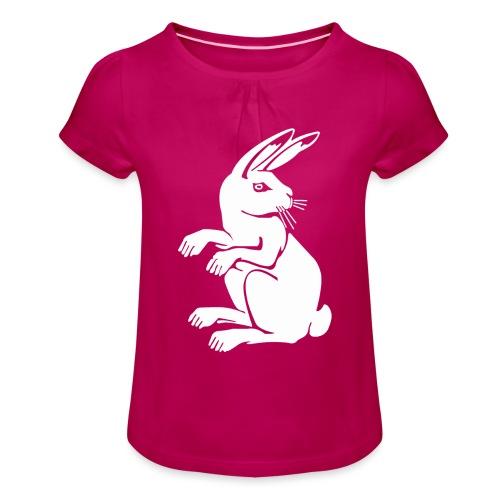 Wappen Hosenruck - Mädchen-T-Shirt mit Raffungen