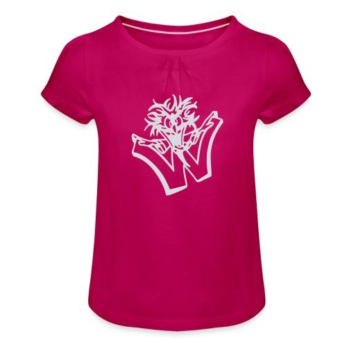 w wahnsinn - Meisjes-T-shirt met plooien