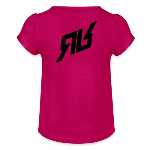 rrlogo - Mädchen-T-Shirt mit Raffungen