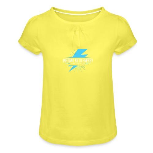 instantketoenergy - Mädchen-T-Shirt mit Raffungen