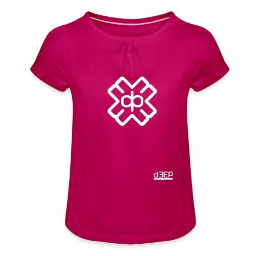 d3eplogowhite - Girl's T-Shirt with Ruffles