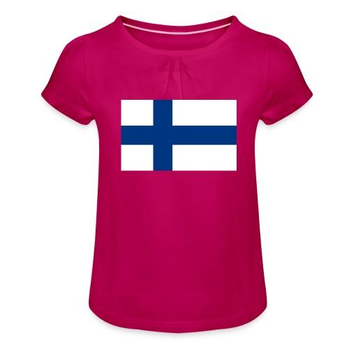 Infidel - vääräuskoinen - Tyttöjen t-paita, jossa rypytyksiä