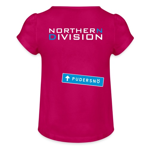 pudersn_2vari - Tyttöjen t-paita, jossa rypytyksiä