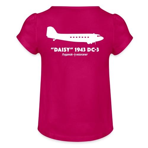 Daisy Silhouette Side 2 - T-shirt med rynkning flicka