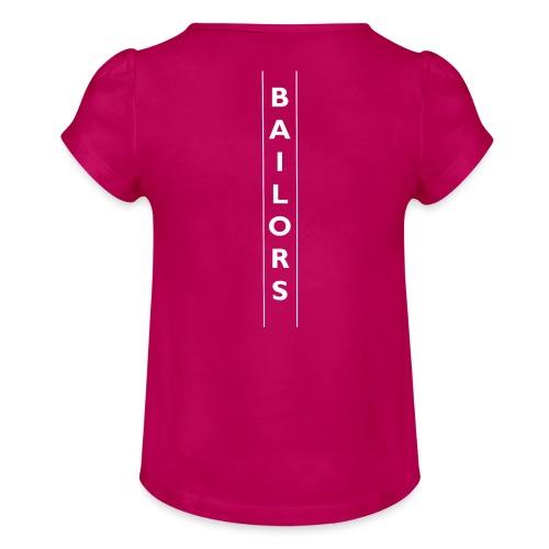 Bailors line style - Meisjes-T-shirt met plooien