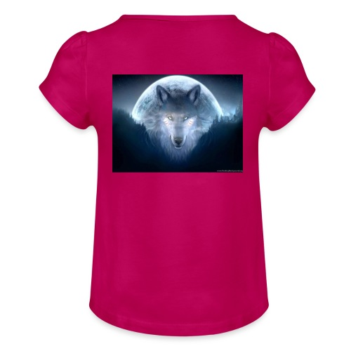 WolfMerch - Girl's T-Shirt with Ruffles