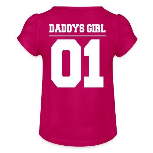 Daddys Girl 01 - Mädchen-T-Shirt mit Raffungen