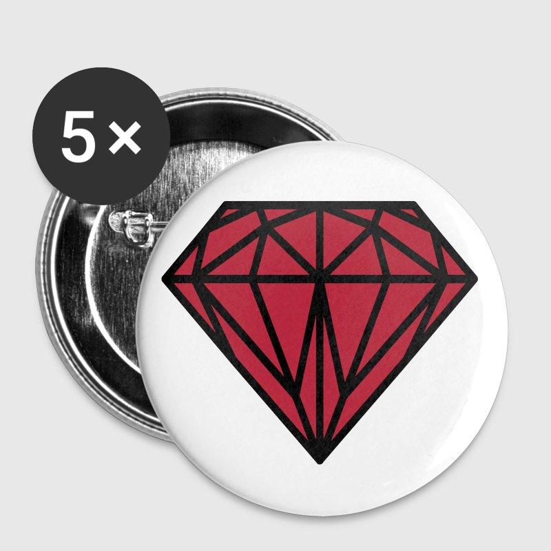 Diamant - Små knappar 25 mm