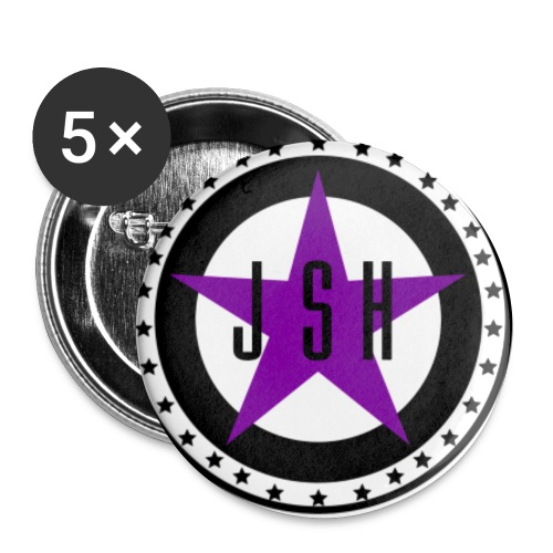 jshlogo13lb - Buttons small 1''/25 mm (5-pack)