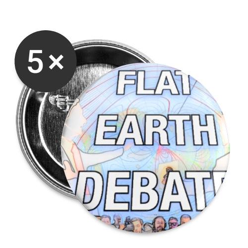 Flat Earth Debate Cartoon - Buttons small 1''/25 mm (5-pack)