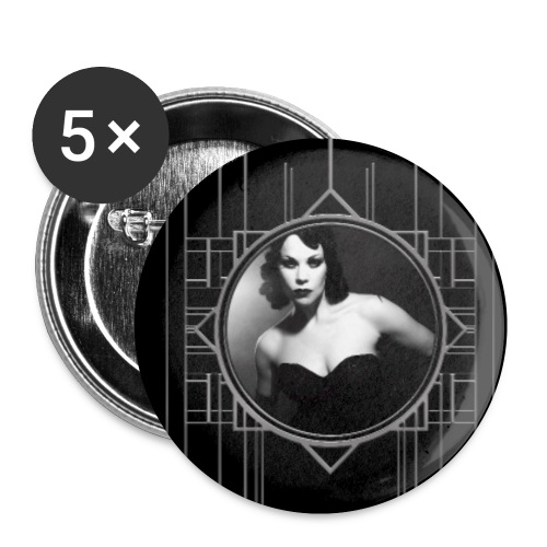 Femme Fatale Xarah Design 2 - Buttons small 1''/25 mm (5-pack)