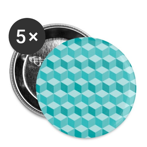 Geometric Cube Pattern - Buttons small 25 mm