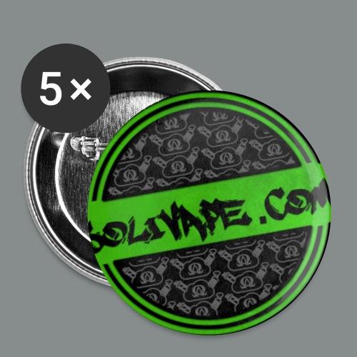 Logo Button shrinked - Buttons klein 25 mm (5er Pack)