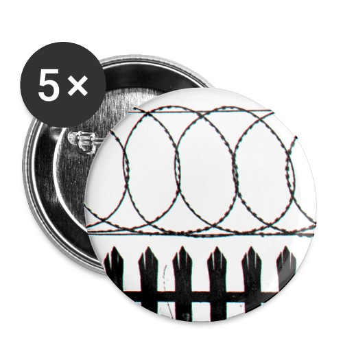 barbed wire - Buttons small 1''/25 mm (5-pack)