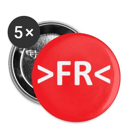 >FR< - Buttons/Badges lille, 25 mm (5-pack)