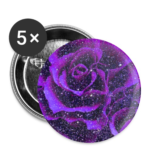 Purple roses romantic vintage floral gift - Buttons small 1''/25 mm (5-pack)