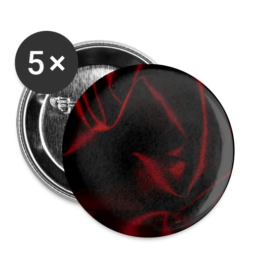 Silk Satin Red Burlesque Romance Shine Gift - Buttons small 1''/25 mm (5-pack)