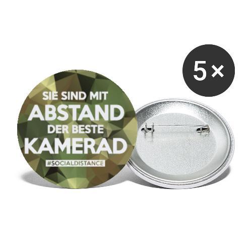 Polygon Mundschutz - mit Abstand der beste Kamerad - Buttons klein 25 mm (5er Pack)