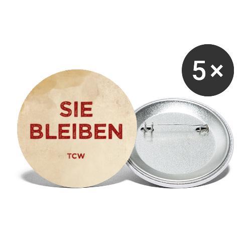 Sie bleiben Button - Buttons klein 25 mm (5er Pack)