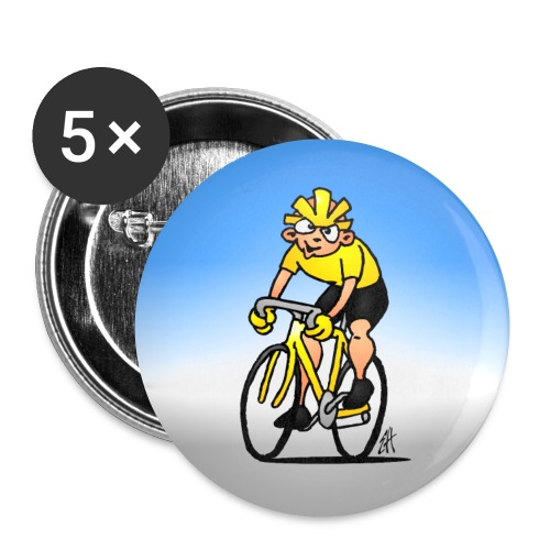 Cyclist - Buttons small 1''/25 mm (5-pack)