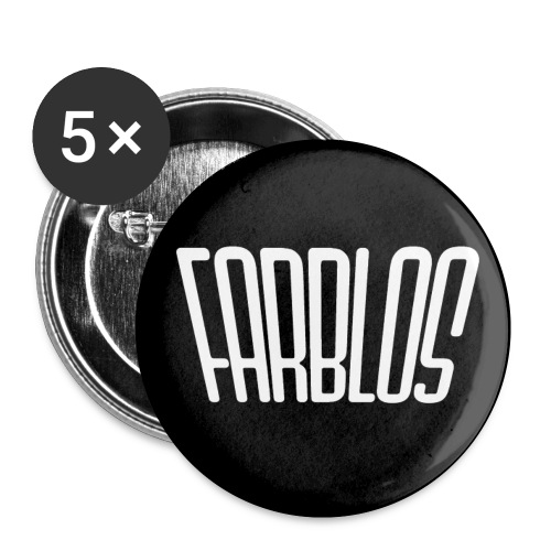 FARBLOS logo - Buttons small 1''/25 mm (5-pack)