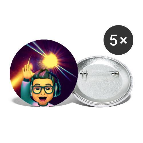 Mr. Semmelman - Famous - Små knappar 25 mm (5-pack)