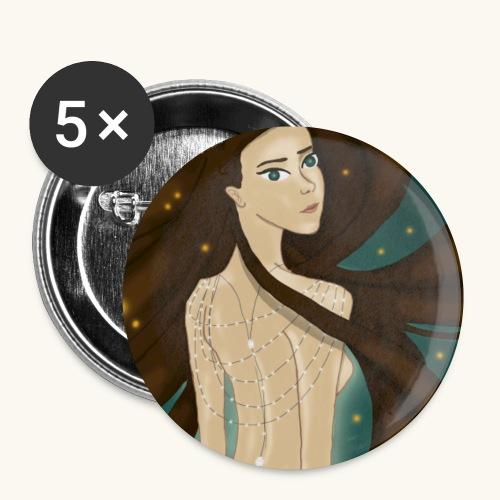 Lucioles - Lot de 5 petits badges (25 mm)