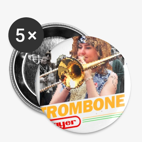 Trombone Playerendo - Lot de 5 petits badges (25 mm)