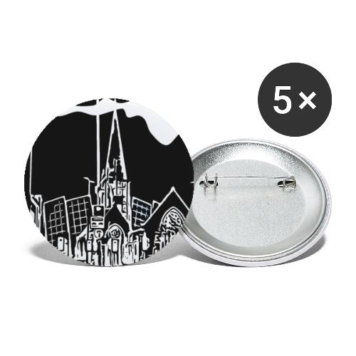 Church iconic - Buttons small 1''/25 mm (5-pack)