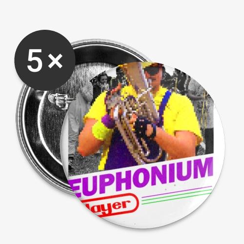 Euphonium playerendo - Lot de 5 petits badges (25 mm)