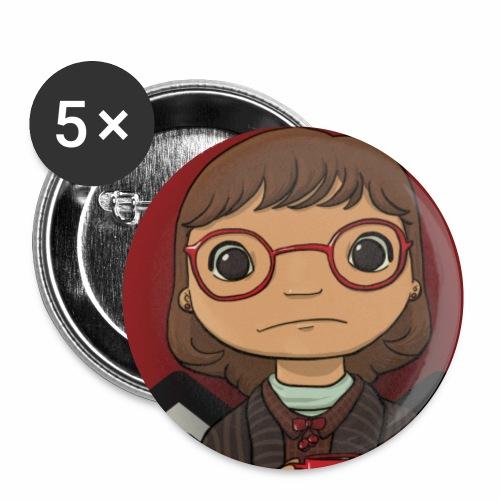 La signora Ceppo (Margaret Lanterman) - Confezione da 5 spille piccole (25 mm)