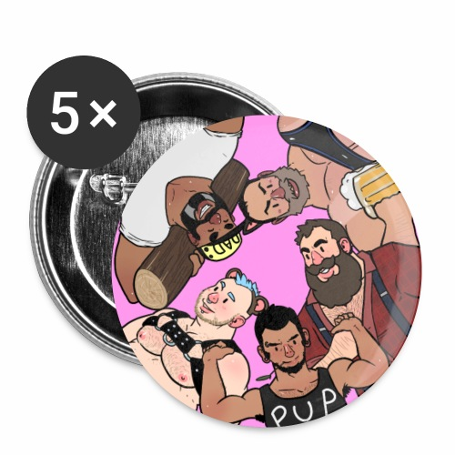 Bear Pile - Buttons small 1''/25 mm (5-pack)