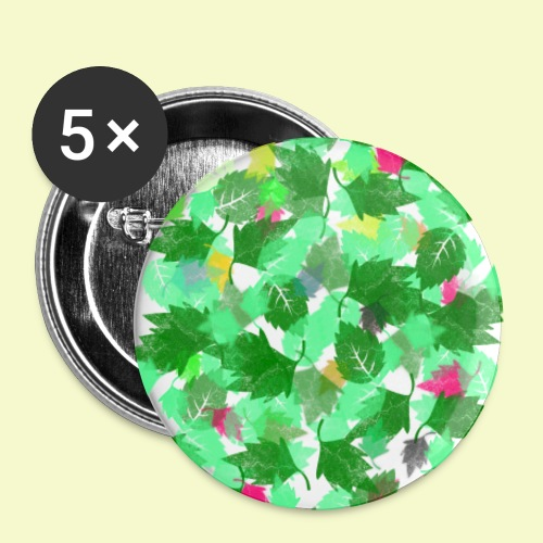 my leaves | Blätterboden im Laubland - Buttons klein 25 mm (5er Pack)