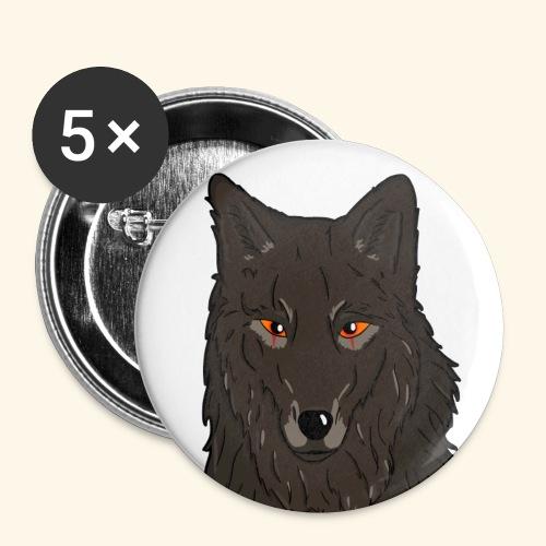 HikingMantis - Buttons/Badges lille, 25 mm (5-pack)