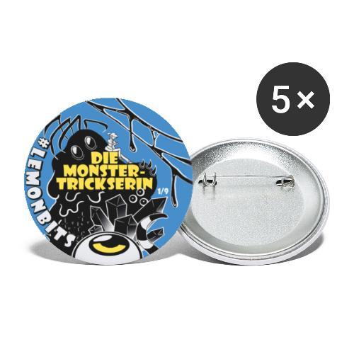 Monstertrickserin Motiv 1 - Buttons klein 25 mm (5er Pack)