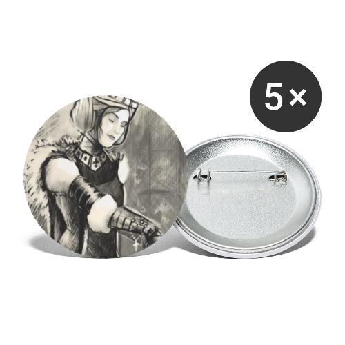 Die Lady - Buttons klein 25 mm (5er Pack)