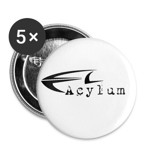 Acylum Black op - Buttons small 1''/25 mm (5-pack)