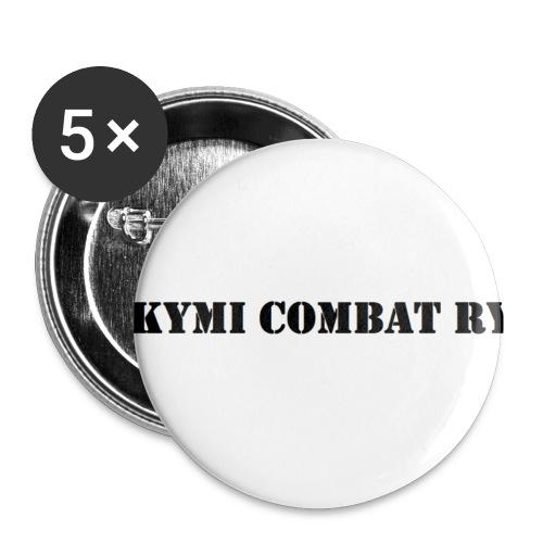 kc musta teksti transparent png - Rintamerkit pienet 25 mm (5kpl pakkauksessa)