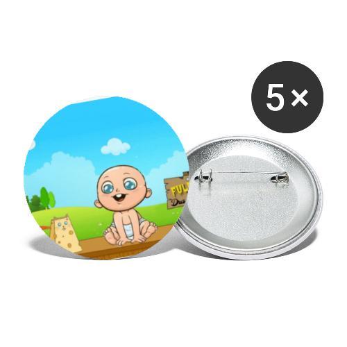 Babyfuldorale4 - Buttons/Badges lille, 25 mm (5-pack)