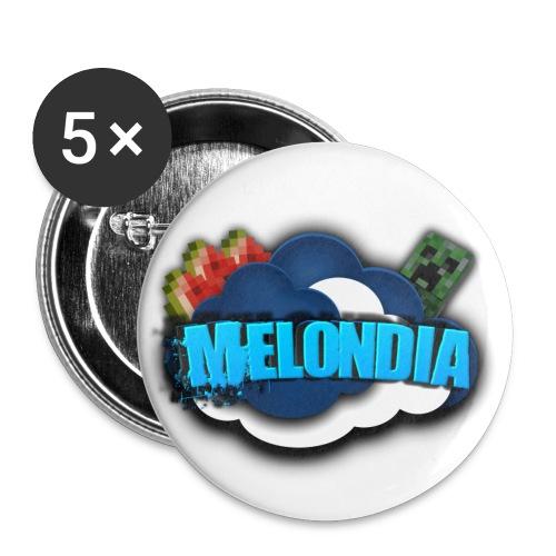 MelondianLogo - Rintamerkit pienet 25 mm (5kpl pakkauksessa)