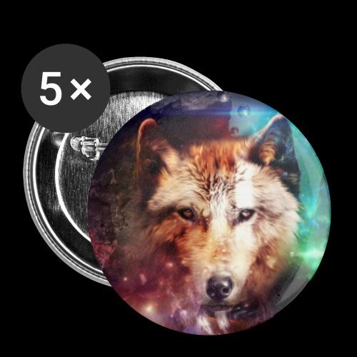 Lobo extraordinario - Paquete de 5 chapas pequeñas (25 mm)