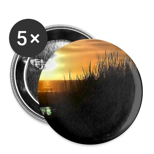 Sonnuntergang an der Nordsee - Buttons klein 25 mm (5er Pack)