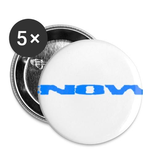 Desnow blue - Buttons/Badges lille, 25 mm (5-pack)