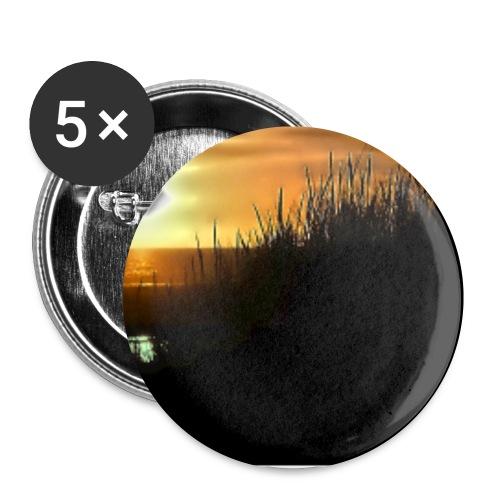 Sonnuntergang an der Nordsee - Buttons klein 25 mm